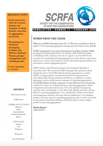 Newsletter 11 (February 2008)