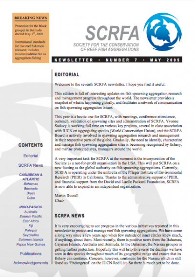 Newsletter 7 (May 2005)
