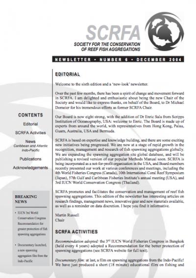 Newsletter 6 (December 2004)